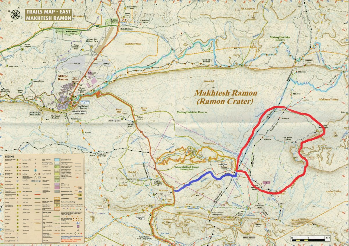 Maktesz Ramon - mapa