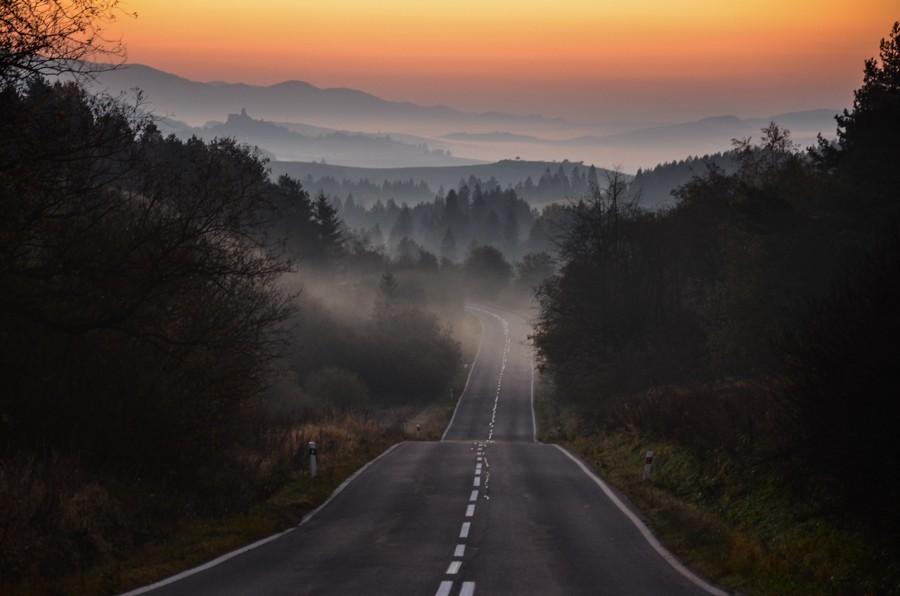 Straňanské sedlo – opewnym wschodzie słońca