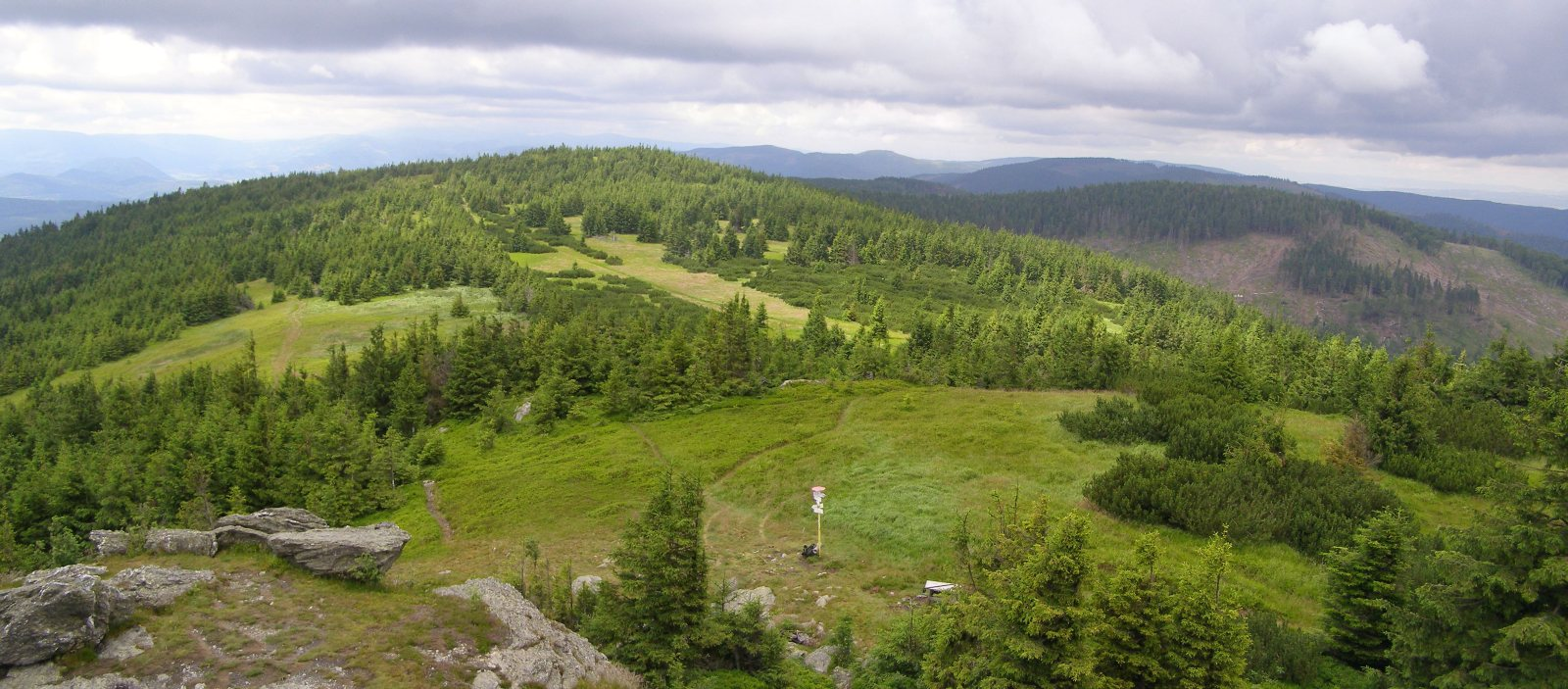 Skalisko – Góry Wołowskie widokowe iwiatrołomowe